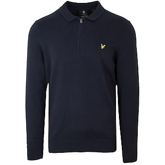 Lyle & Scott  Dark Navy Half Zip Sweatshirt