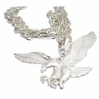 Pingente colar HipHop Bling Bling águia pingente Zircon cúbico de águia