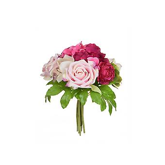Artificial Silk Hydrangea & Rose Bouquet