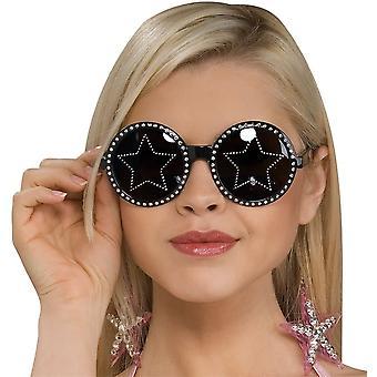 Glasögon stjärnor är Blind svart