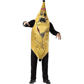 Zombie banan vuxen Plus kostym