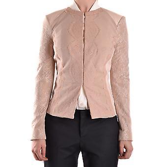 Jaqueta bege nylon outerwear de Elisabetta Franchi Ezbc050034