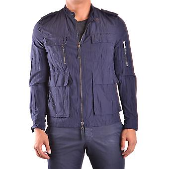Neil Barrett Ezbc058012 Men's Blue Nylon Outerwear Jacket
