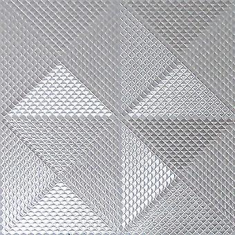 Sølvfolie Diamond geometriske tapet Textured Vinyl glitre Arthouse Gianni