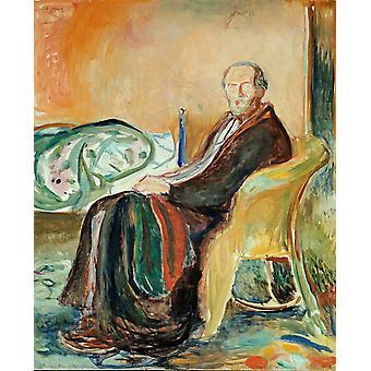 Zelfportret, Edvard Munch, 50x40cm