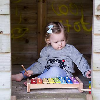 Classic World-musikkinstrumenter Toy Rainbow xylofon for små barn og babyer, lyse og fargerike gave