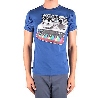 Franklin & Marshall Ezbc166003 Miesten sininen puuvilla t-paita