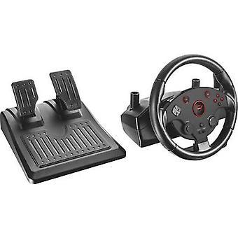 Sturende wielen vertrouwen GXT 288 PC, PlayStation 3 zwart incl. voetpedalen