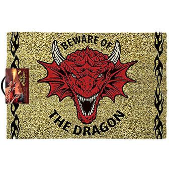 Anne Stokes Beware of the Dragon Doormat