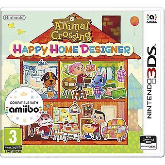 الحيوان عبور سعيد مصمم المنزل 3DS لعبة (حزمة نسخة)