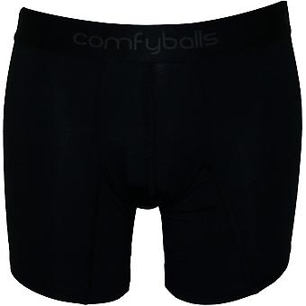 Comfyballs Modal Cotton Stretch Boxer Brief, Pitch Black