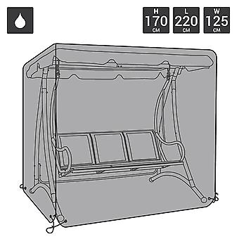 Charles Bentley Premium Large Waterproof Garden Swing Seat Cover-100% wasserdicht-Fully Assembled in Grey/Black