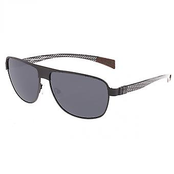 Breed Hardwell Titanium and Carbon Fiber Polarized Sunglasses - Black/Black