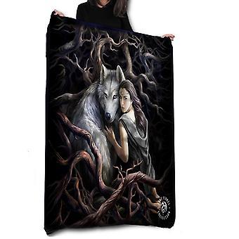 Wild star hearts - soul bond - fleece blanket, tapestry, throw.