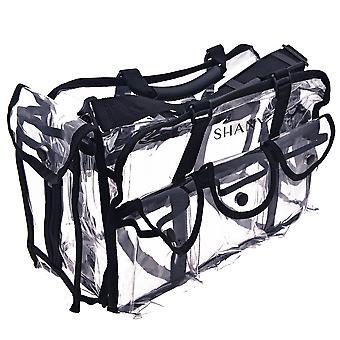 SHANY حقيبة ماكياج واضحة، برو موا حقيبة مستطيلة مع حزام الكتف، كبير