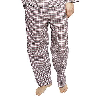 Cyberjammies 6407 Men's Joseph Burgundy Red Mix Check Cotton Pyjama Pant