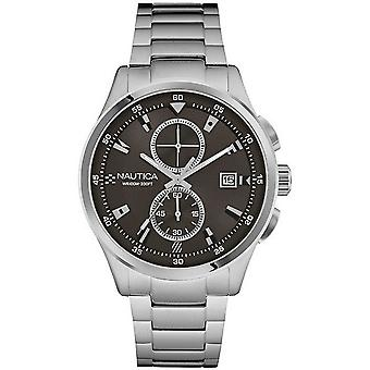 nautica- nct 19 flags Quartz Analog Man Watch with NAD19559G Stainless Steel Bracelet