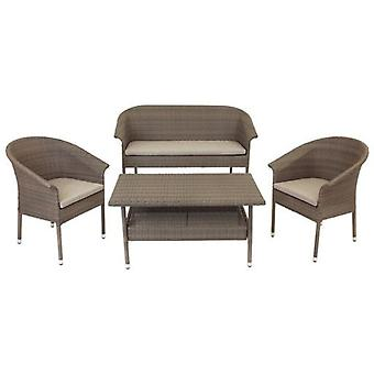 Wellindal Valerie set pe rattan relax stackable topo (Garden , Others)