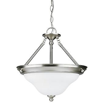 Sea Gull Lighting 69562BLE-962 3 Light Semi Flush Convert Pendant Brushed Nickel