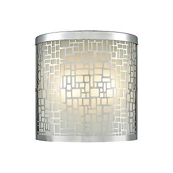 Hooper 2-light outdoor sconce in polished stainless elk lighting