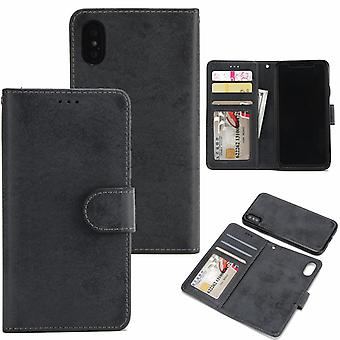 Suede magnetic case for iPhone XS Max with magnetic lock.