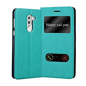 Cadorabo Case cover for Honor 6X Case Cover - Phone case case with magnetic clasp, stand function and 2 viewing windows - Case Cover Case Case Case Case Book Folding Style