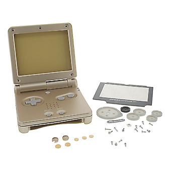 Replacement housing shell case kit for nintendo game boy advance sp gba - starlight gold