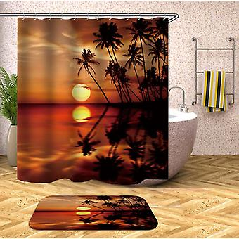 Sunset At The Tropical Shower Curtain