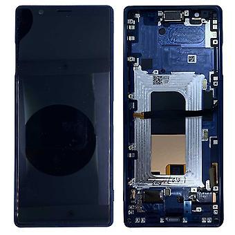 Sony Display LCD Unidad completa para 1319-9384 Xperia 5 J8210 / J9210 Azul con pieza de repuesto de marco nuevo
