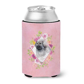 Carolines Treasures  CK4162CC Moscow Watchdog Pink Flowers Can or Bottle Hugger