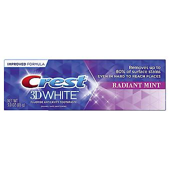 Crest 3d white fluoride anticavity toothpaste, radiant mint, 3 oz