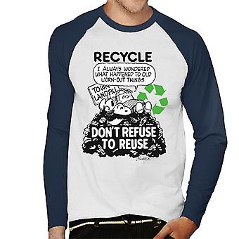 Peanuts Snoopy Dont Refuse To Reuse Men's Baseball Long Sleeved T-Shirt