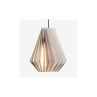 Iumi Hektor L Cone Shaped Birch Plywood Pendant - Grey