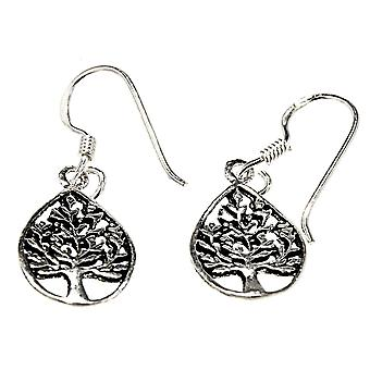 Earring 13 tree of life - silver