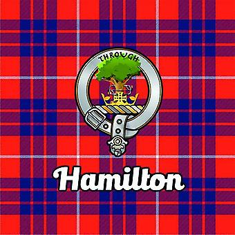 Art2Glass Tartan Clan Coaster - Hamilton