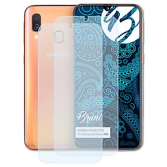 Bruni 2x Screen Protector compatible with Samsung Galaxy A40 Protective Film