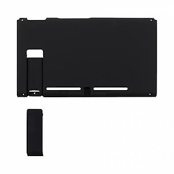 Housing shell for nintendo switch console back plate with kickstand soft touch - black | zedlabz