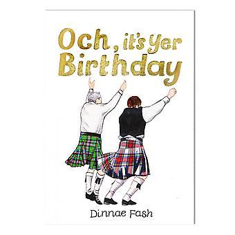 Embroidered Originals Birthday Dinnae Fash Card