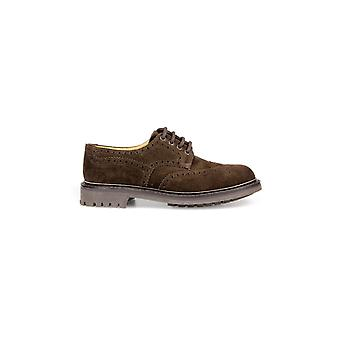 CHURCH'S MCPHERSON BROWN SUEDE LACE UP