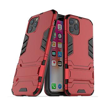 HATOLY iPhone 11 Pro Max - Robotic Armor Case Cover Cas TPU Case Red + Kickstand