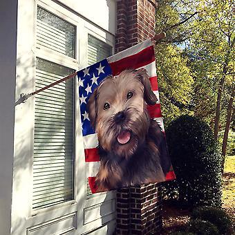 Border Terrier Dog American Flag Flag Canvas House Size