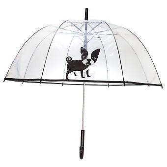 X-Brella Unisex Adults 23in Transparent French Bulldog Stick Umbrella
