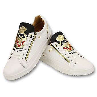Sneakers - Prince White Black- Wit