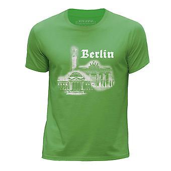STUFF4 Pojan Pyöreä kaula T-paitaan ja Berliinin maamerkki luonnos/vihreä