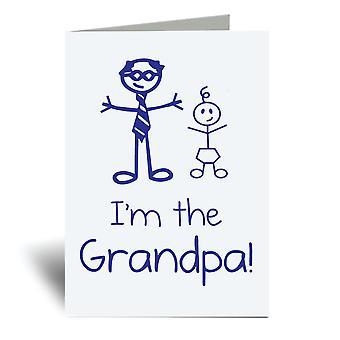 אני ' מ ' סבא A6 כרטיס ברכה