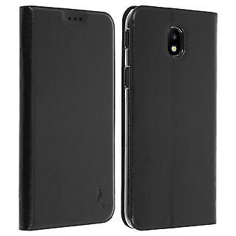 Akashi slim case, flip wallet cover for Samsung Galaxy J5 2017 - Black