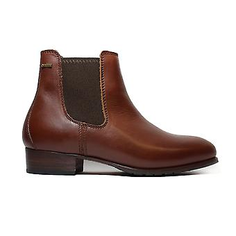 Dubarry Cork Chesnut Brown Leather Womens Pull On Chelsea Boots