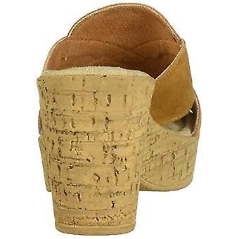 Bella Vita Femei & apos;s Lor-Italia Slide Sandal Shoe, Tutun italian piele de căprioară ...
