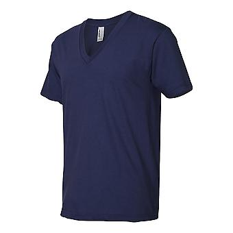 American Apparel Mens Fine Jersey V Neck T-Shirt