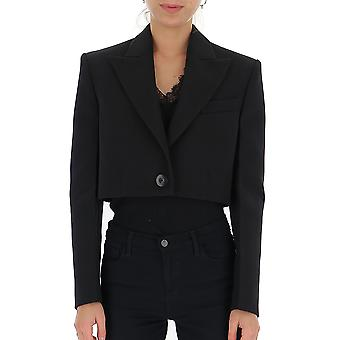 Givenchy Bw30as12cl001 Damen's Schwarze Wolle Blazer